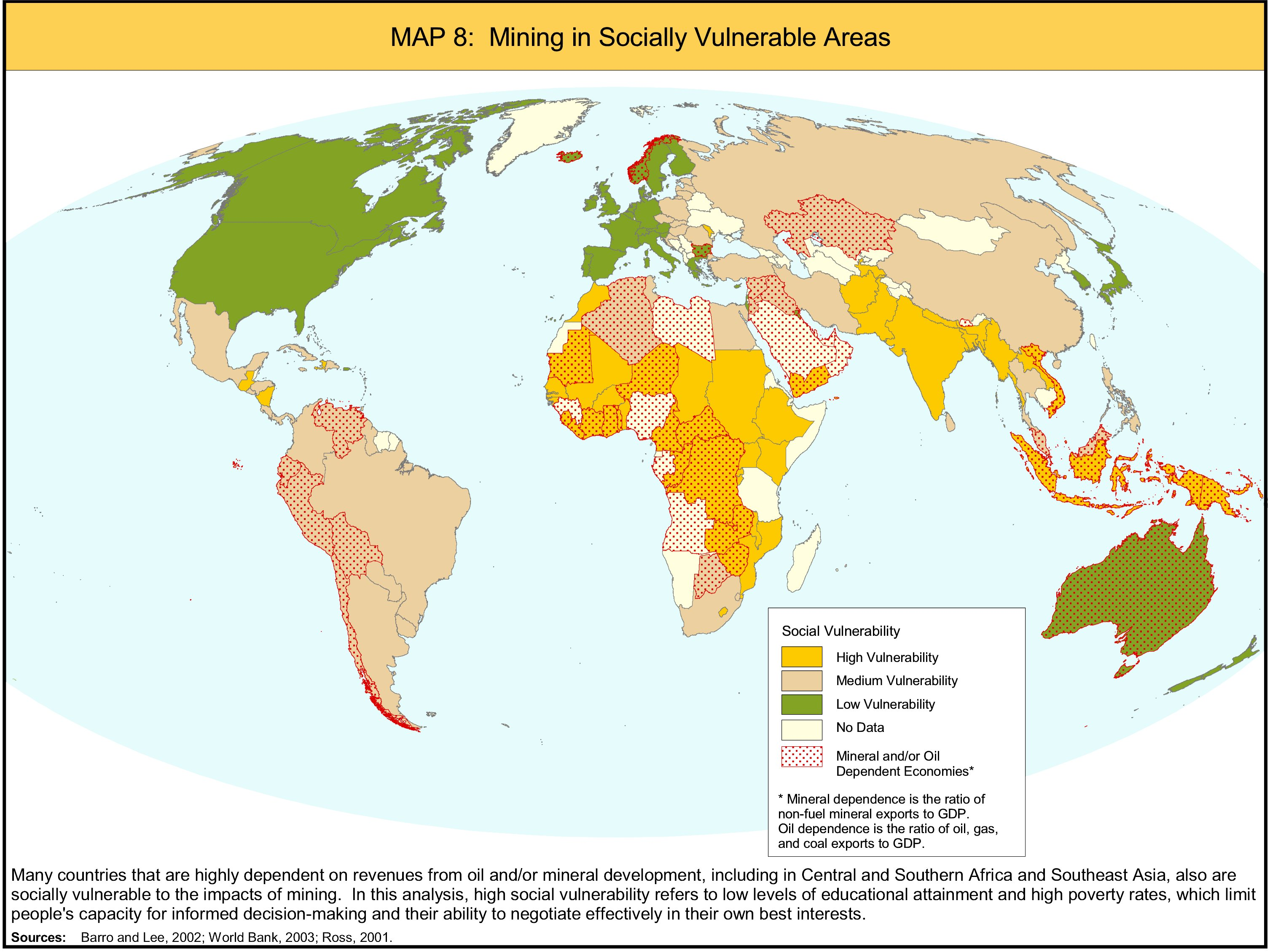 Mineral Map Of The World.Mining And Critical Ecosystems Mapping The Risks Institute Of
