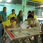 Community members validating the flood and landslide susceptibility map