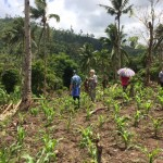 Working with and accompanying a riverside community in Leyte, Philippines to identify a safer housing site, with Pedro Walpole, SJ of ESSC and Klaus Väthröder, SJ of Xavier Network. Photo credit: ESSC