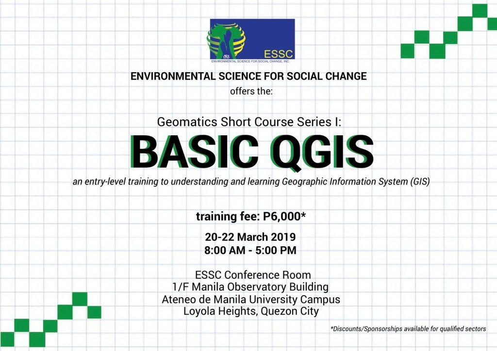 ESSC offers geomatics short course training on Basic QGIS